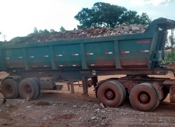 Transportes de materiais reciclados