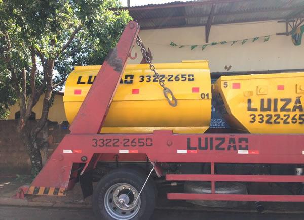 Locação de tanque de água para iniciar obras
